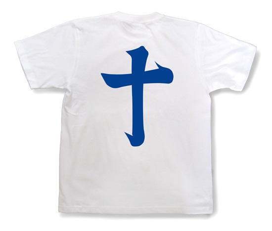戦国武将Tシャツ・島津義弘「十」ホワイトB