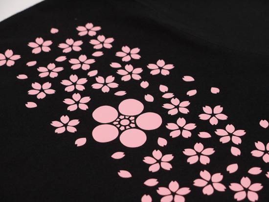 戦国武将Tシャツ・前田慶次「桜吹雪に傾奇者」4